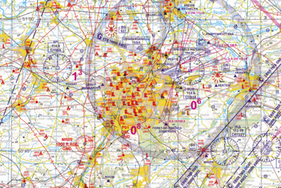 Belgium Low Air 1:250.000 VFR Chart Version 2017 geplastificeerd