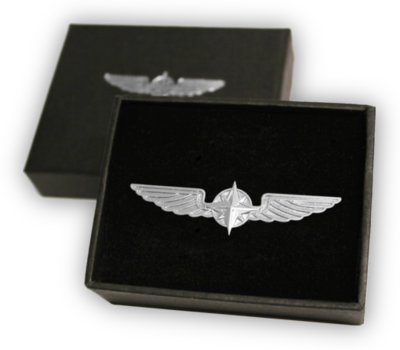 Pilot Wings silver 3,5 cm pin