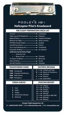 HB-1 Helicopter Pilot Knee Board Pooleys