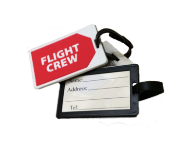 Pilot Luggage Label Crew