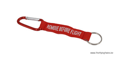Key Chain Remove Before Flight 16 cm inclusief musketon