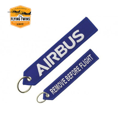 "Blue Airbus ""remove before flight"" key ring"