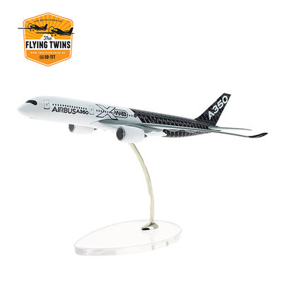 A350 XWB carbon livery 1:400 scale model