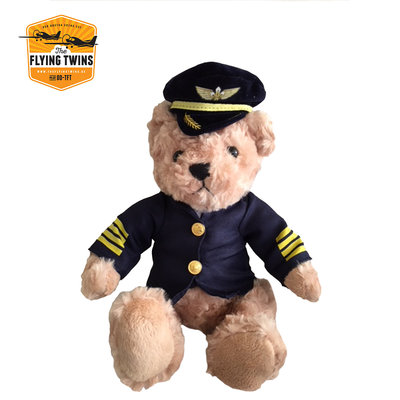 Captain Pilot Bear 35 cm plush