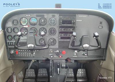 Cockpit Poster Cessna 172