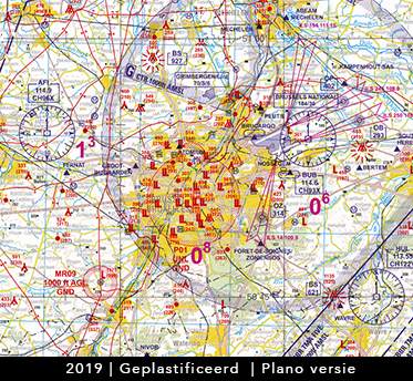 Low VFR Chart Belgium ed. 2019 geplastificeerd plano