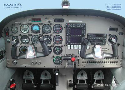Cockpit Poster Piper PA28