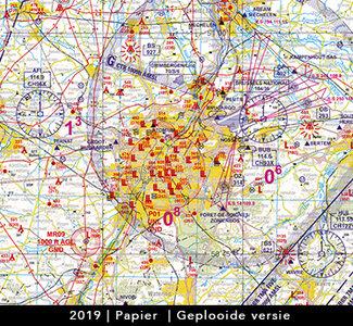 Low VFR Chart Belgium ed. 2019 papier gevouwen