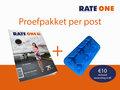 Proefpakket: RateOne nieuwe editie + ijsblokvorm vliegtuigjes