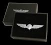 Pilot Wings silver 3,5 cm pin